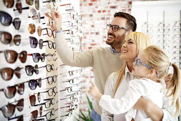 family eye care frames selection